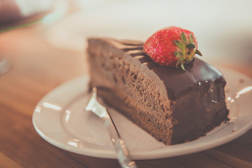 Chokladtårta med jordgubbe